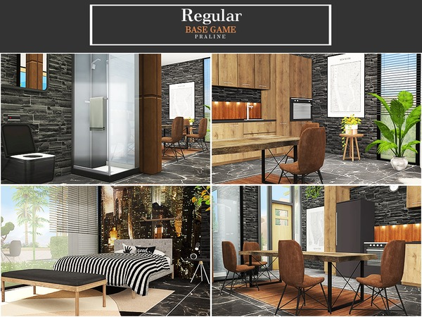 Sims 4 Regular house by Pralinesims at TSR