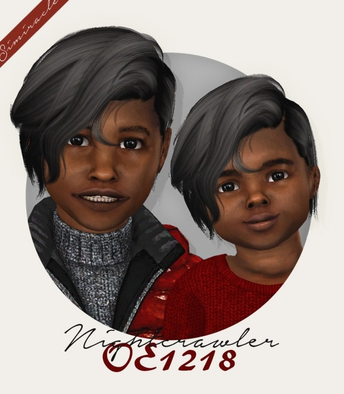 Sims 4 Wings OE1218 hair for kids and toddlers at Simiracle