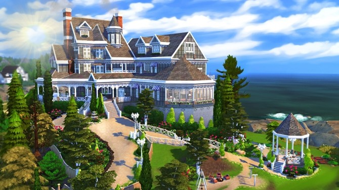 Hillcrest giant manor atop the cliffs of Brindleton Bay at BERESIMS image 1646 670x377 Sims 4 Updates