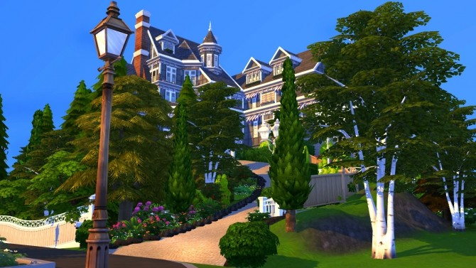 Hillcrest giant manor atop the cliffs of Brindleton Bay at BERESIMS image 1656 670x377 Sims 4 Updates