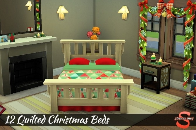 12 Quilted Christmas Beds at Strenee Sims image 1664 670x447 Sims 4 Updates