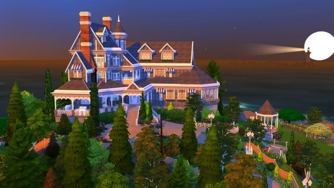 Hillcrest giant manor atop the cliffs of Brindleton Bay at BERESIMS image 1666 670x377 Sims 4 Updates