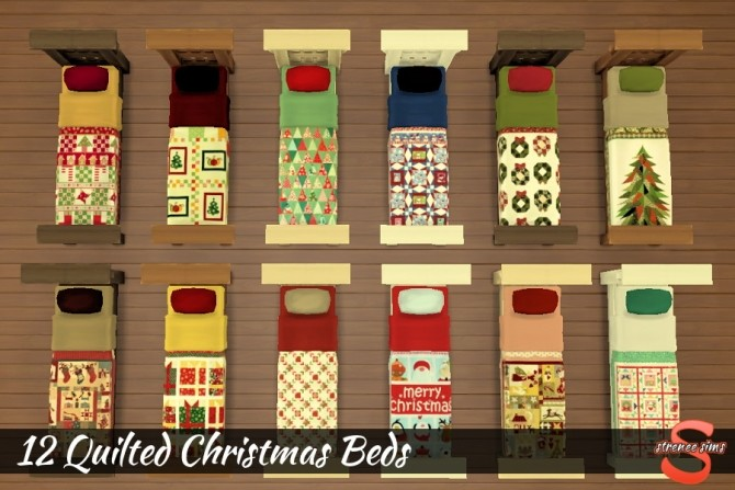 12 Quilted Christmas Beds at Strenee Sims image 1674 670x447 Sims 4 Updates