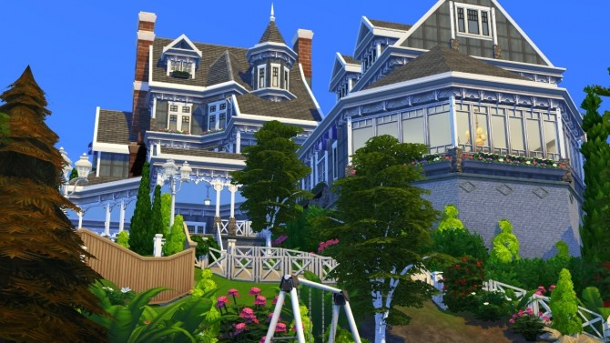 Hillcrest giant manor atop the cliffs of Brindleton Bay at BERESIMS image 1676 670x377 Sims 4 Updates