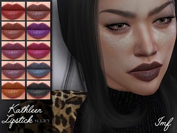 IMF Kathleen Lipstick N.137 by IzzieMcFire at TSR image 1710 Sims 4 Updates