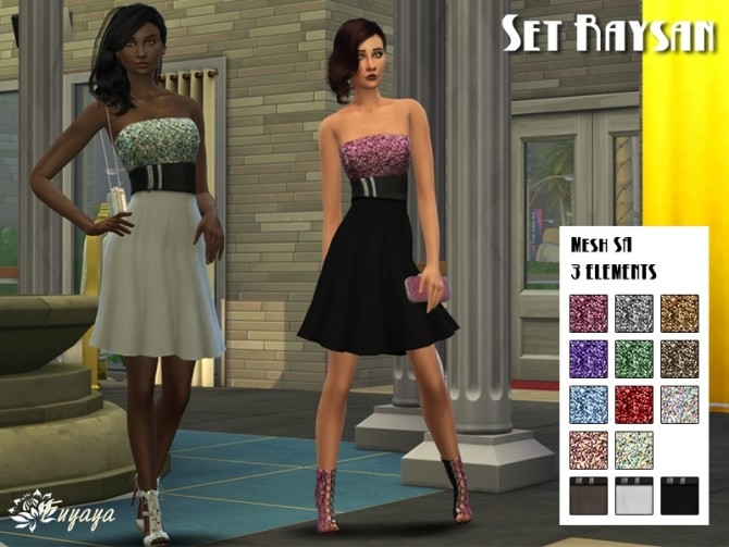 Raysan dress by Fuyaya at Sims Artists image 1737 670x503 Sims 4 Updates