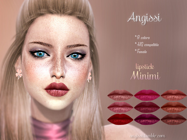 Sims 4 Minimi lipstick by ANGISSI at TSR