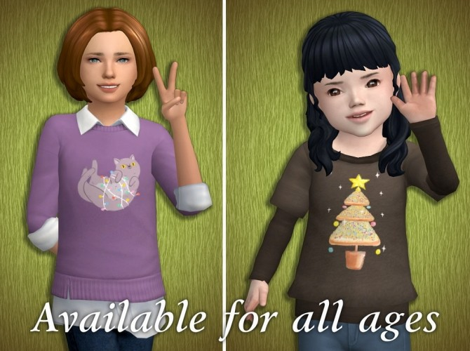 Sims 4 Acc Prints for T shirts: Christmas 18 Special at Tukete