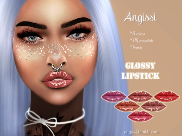 Glossy lipstick by ANGISSI at TSR image 1811 Sims 4 Updates