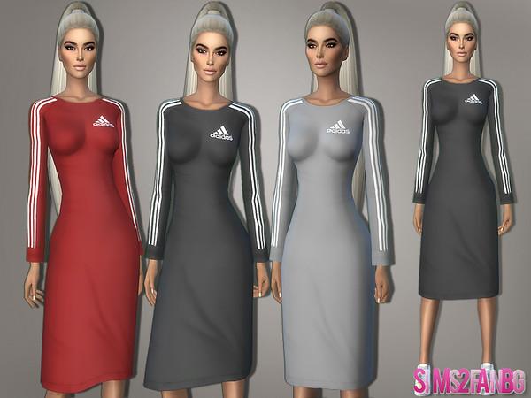 Sims 4 365 Athletic Midi Dress by sims2fanbg at TSR