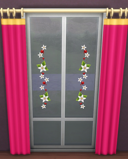 Sims 4 Christmas window decals set 3 by Meryane at Beauty Sims