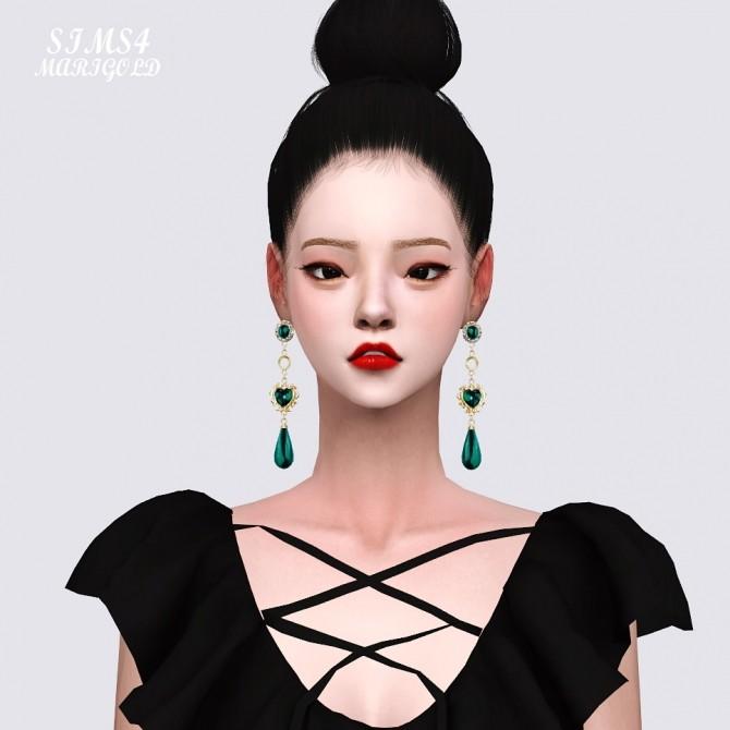 Sims 4 Big Pearl Earrings at Marigold