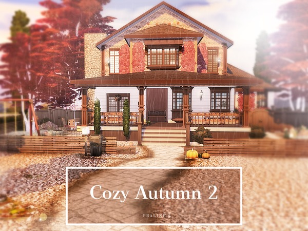 Cozy Autumn 2 house by Pralinesims at TSR image 1912 Sims 4 Updates