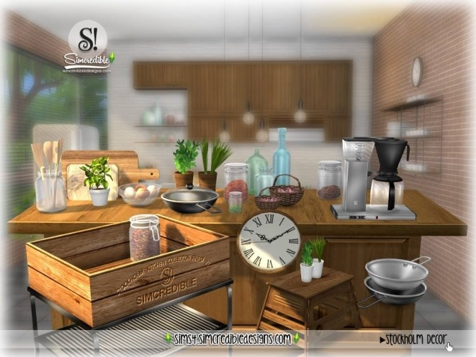 Stockholm kitchen Decor/Extras at SIMcredible! Designs 4 ...