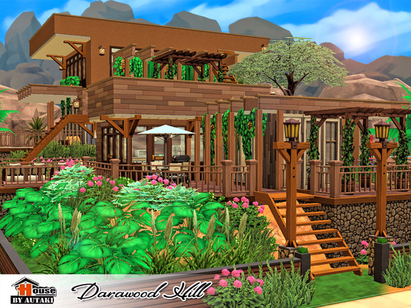 Sims 4 Darawood Hill house by autaki at TSR