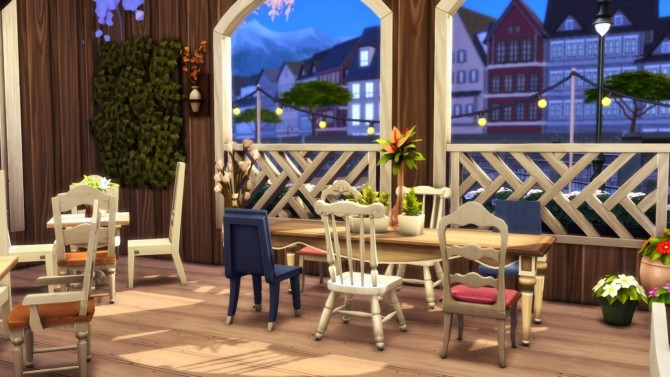 Sims 4 Flower Chamber Restaurant at Wiz Creations