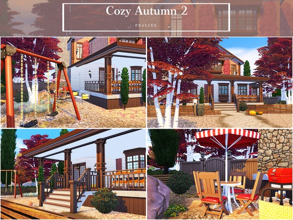 Cozy Autumn 2 house by Pralinesims at TSR image 2011 Sims 4 Updates
