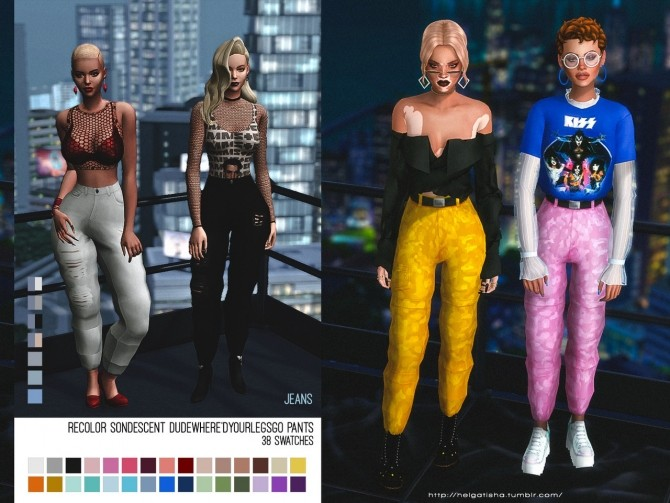 Recolor sondescent dude, where'd your legs go? trousers at Helga Tisha image 2025 670x503 Sims 4 Updates