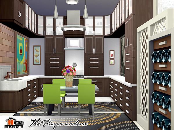Sims 4 The Pimpa Modern house by autaki at TSR