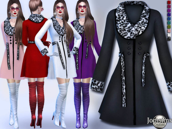 Denimi coat by jomsims at TSR image 209 Sims 4 Updates