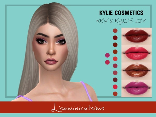 Sims 4 LMCS KKW X KYLIE LIP by Lisaminicatsims at TSR