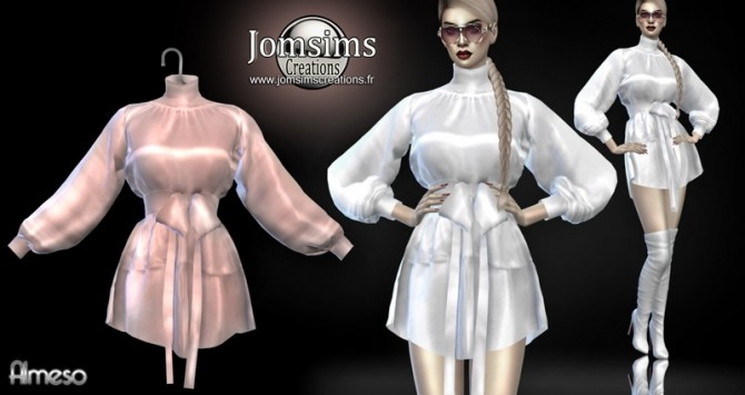 Almeso satin dress at Jomsims Creations image 2107 670x355 Sims 4 Updates