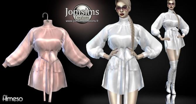 Sims 4 Almeso satin dress at Jomsims Creations
