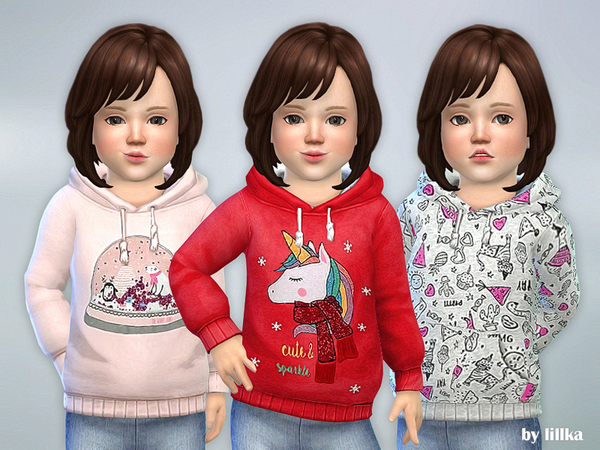 Winter Hoodie for Toddler by lillka at TSR image 2113 Sims 4 Updates