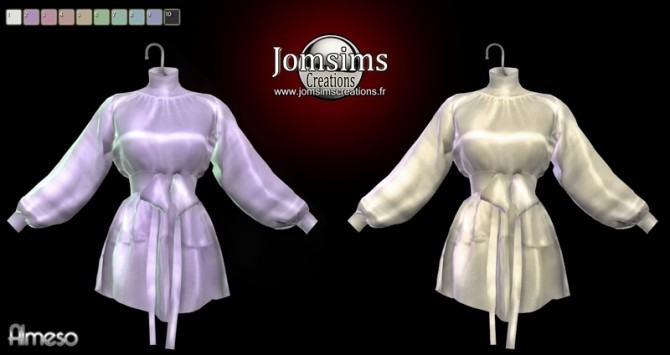 Almeso satin dress at Jomsims Creations image 2118 670x355 Sims 4 Updates