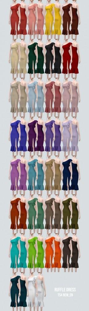 Ruffle Dress at NEWEN image 2124 288x1000 Sims 4 Updates