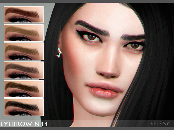 Sims 4 Eyebrow N11 by Seleng at TSR