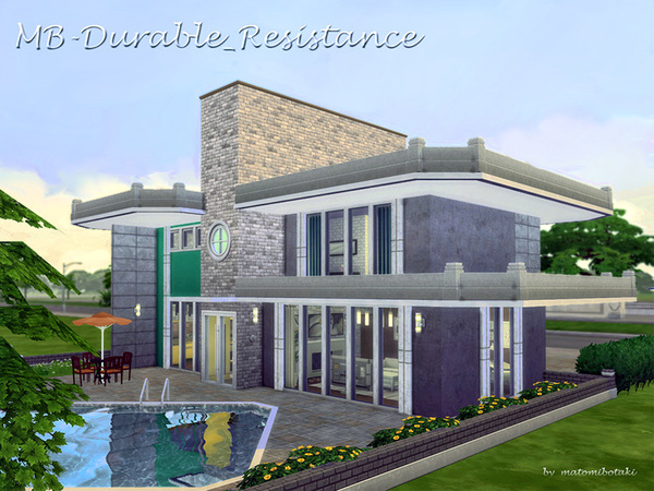 MB Durable Resistance house by matomibotaki at TSR image 215 Sims 4 Updates