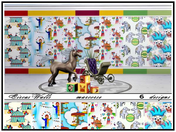 Sims 4 Circus Walls by marcorse at TSR