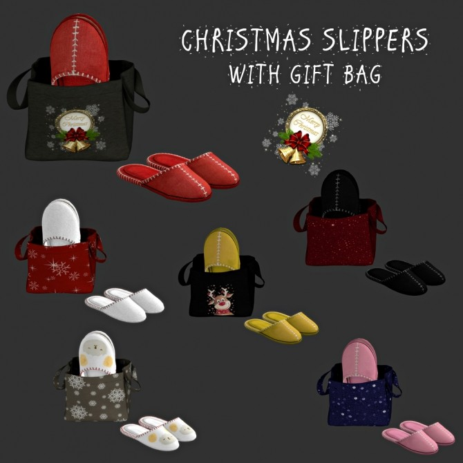 Sims 4 Christmas Slippers (P) at Leo Sims