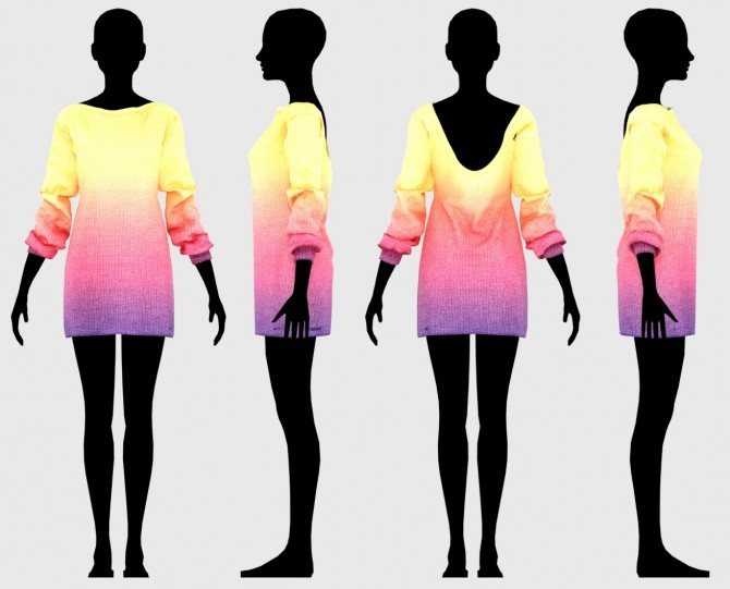 Sims 4 Hazel Sweater Dress at Daisy Pixels