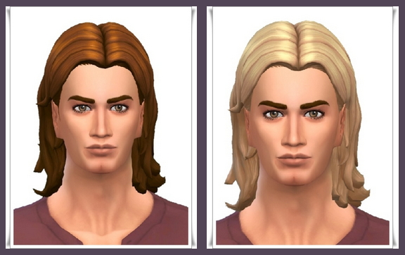 Sims 4 Swept Wavy Mid Parted Hair at Birksches Sims Blog