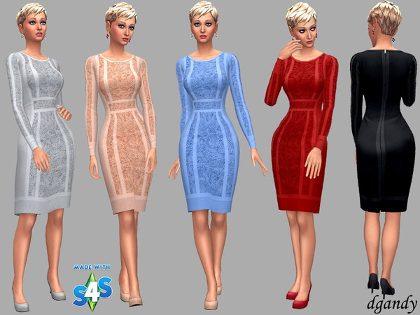 Sims 4 Stella dress by dgandy at TSR