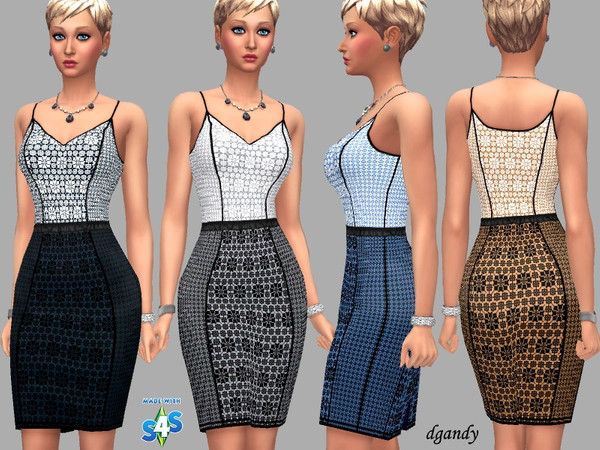 Sims 4 Abigail Dress by dgandy at TSR