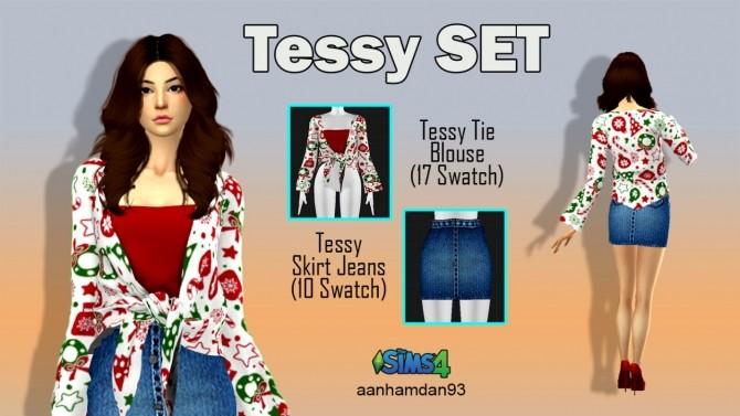 Sims 4 Tessy SET (With Christmas Swatch) at Aan Hamdan Simmer93