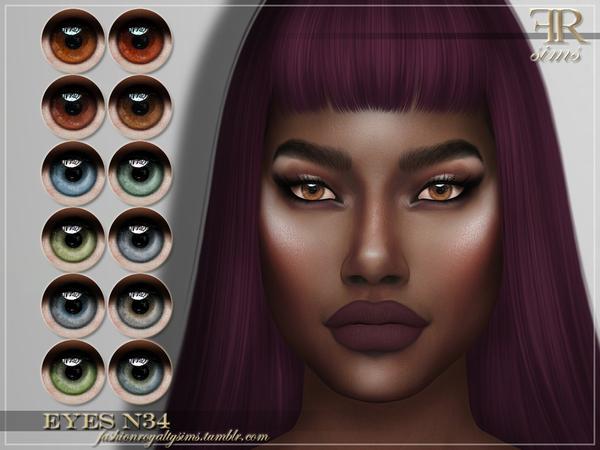 Sims 4 FRS Eyes N34 by FashionRoyaltySims at TSR