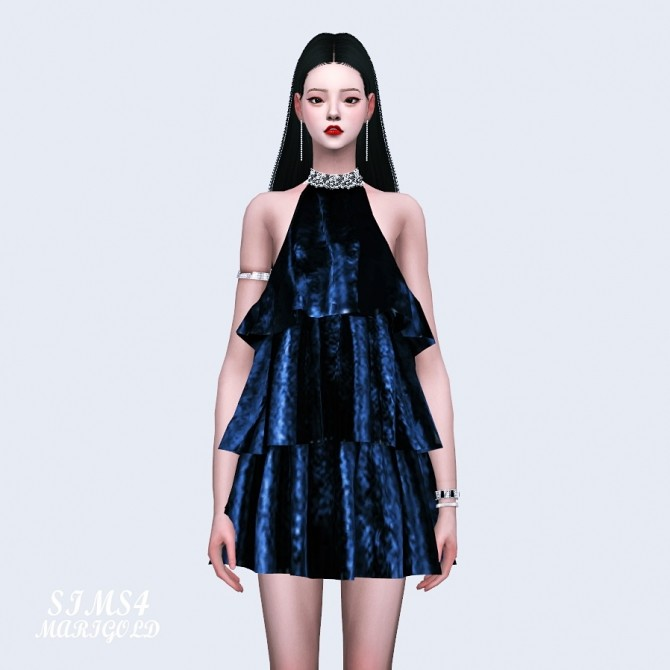 Sims 4 Philosophy Halterneck Dress at Marigold