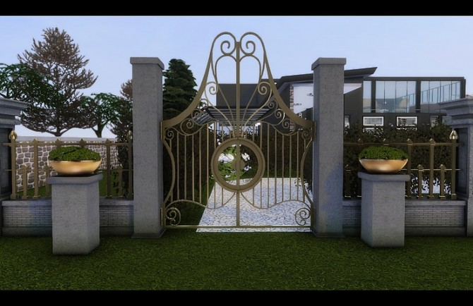 Angel Hair Fence Gate Amp Regal Rock Planter By Daer0n At