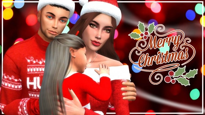 Sims 4 Christmas Family at MODELSIMS4