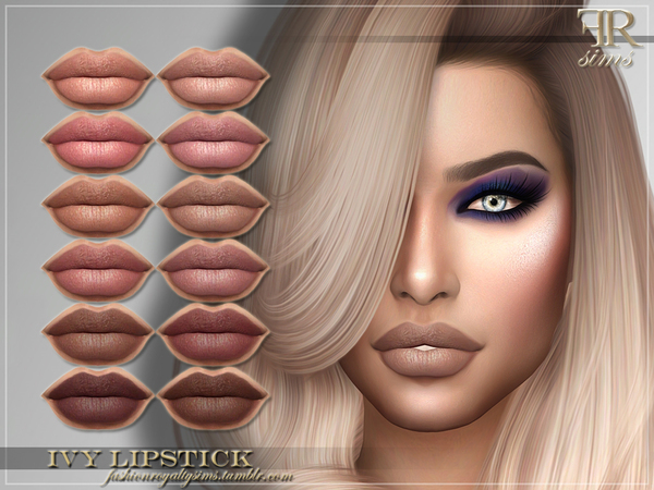FRS Ivy Lipstick by FashionRoyaltySims at TSR image 2410 Sims 4 Updates