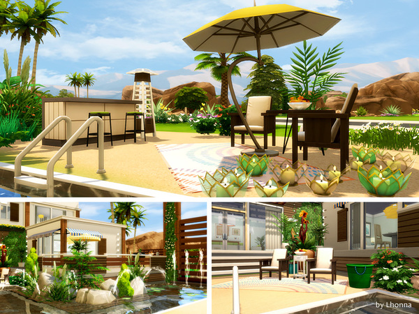 Sims 4 Eco Beach House by Lhonna at TSR