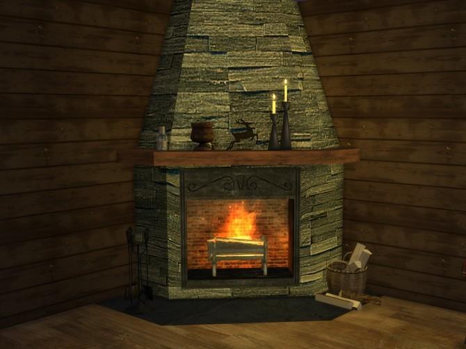 Corner fireplace at Alial Sim image 2426 670x503 Sims 4 Updates