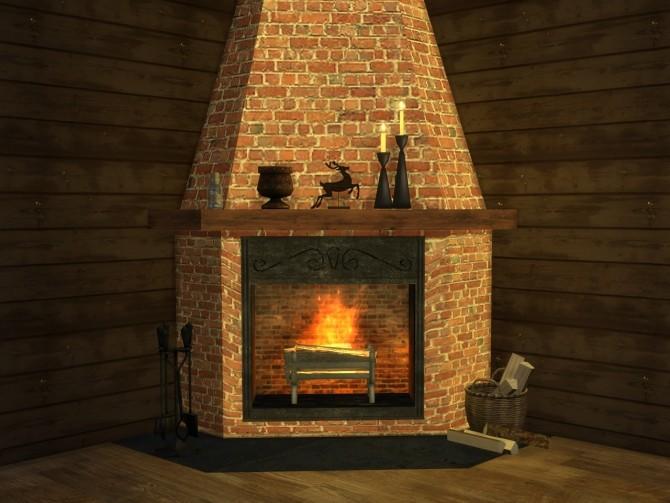 Corner fireplace at Alial Sim image 2432 670x503 Sims 4 Updates