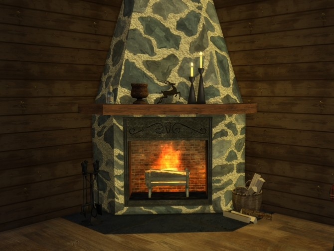 Corner fireplace at Alial Sim image 2442 670x503 Sims 4 Updates