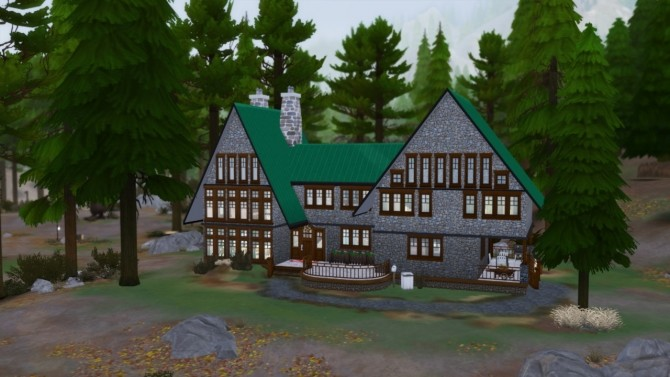 Sims 4 Green Getaway house at Simming With Mary