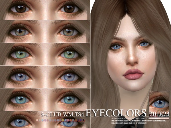 Sims 4 Eyecolors 201824 by S Club WM at TSR